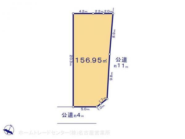 土地 愛知県常滑市塩田町4丁目61 名鉄常滑線常滑駅 980万円