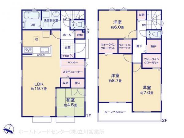 新築戸建 東京都青梅市谷野88-18 JR青梅線河辺駅 2480万円