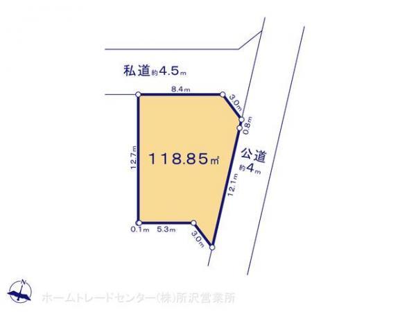 土地 埼玉県坂戸市関間3丁目158-1 東武東上線若葉駅 1730万円