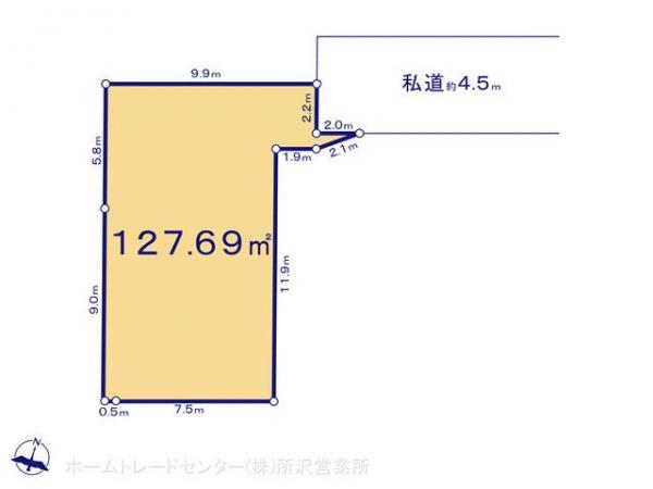 土地 埼玉県坂戸市関間3丁目158-1 東武東上線若葉駅 1630万円