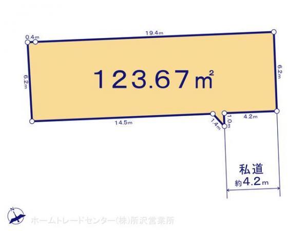 土地 埼玉県坂戸市末広町6-7 東武東上線北坂戸駅 1940万円