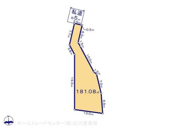 土地 東京都八王子市小比企町1427-4 京王高尾線山田駅 2580万円