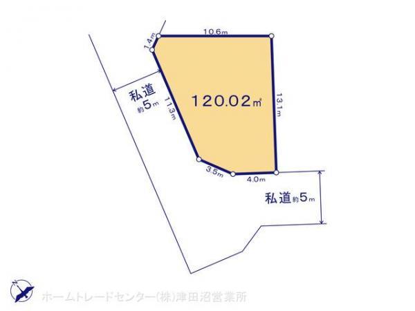 土地 千葉県船橋市三山5丁目35 JR総武本線津田沼駅 2190万円