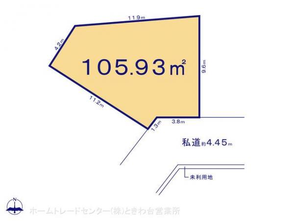 土地 埼玉県富士見市大字鶴馬2594 東武東上線鶴瀬駅 3980万円