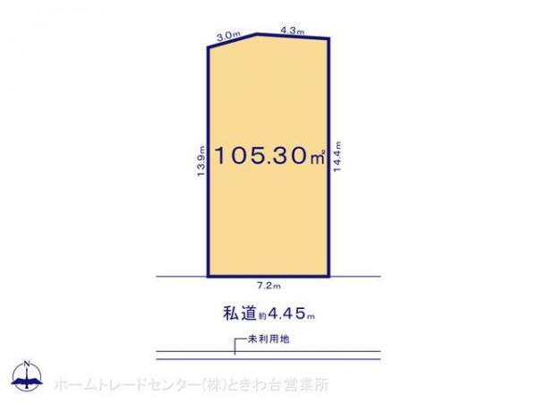 土地 埼玉県富士見市大字鶴馬2594 東武東上線鶴瀬駅 4180万円