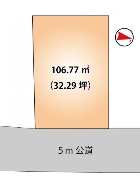 土地 船橋市松が丘1丁目48-16 新京成電鉄線高根木戸駅 980万円