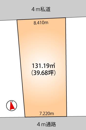 土地 船橋市大穴南1丁目 新京成電鉄線滝不動駅 980万円