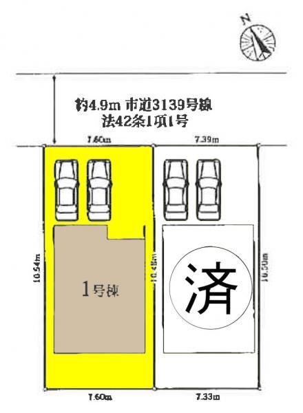 新築一戸建て 愛西市鰯江町郷東73番、74番 近鉄名古屋線富吉駅 2080万円