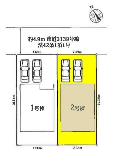 新築一戸建て 愛西市鰯江町郷東73番、74番 近鉄名古屋線富吉駅 2550万円