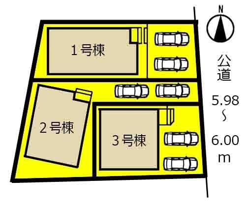 新築戸建 春日井市東野町西3丁目8番23、8番24の一部 JR中央本線春日井駅 3190万円