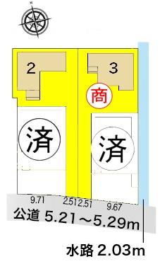 新築一戸建て 西尾市川口町中切64番、65番 名鉄西尾線福地駅 2380万円
