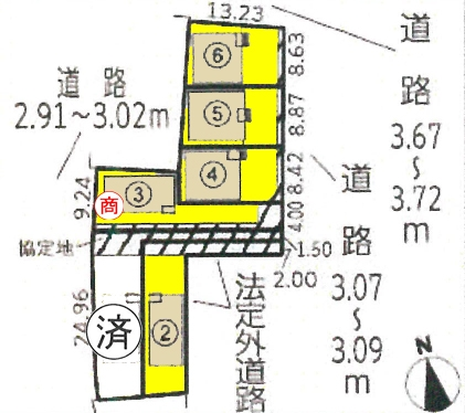 新築一戸建て 西尾市矢場町70番地 名鉄西尾線西尾口駅 2390万円