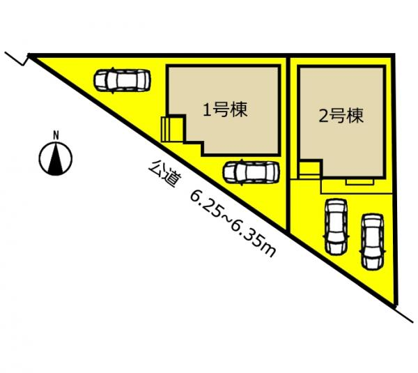 新築一戸建て 名古屋市北区西味鋺5丁目738 名鉄小牧線上飯田駅 2980万円