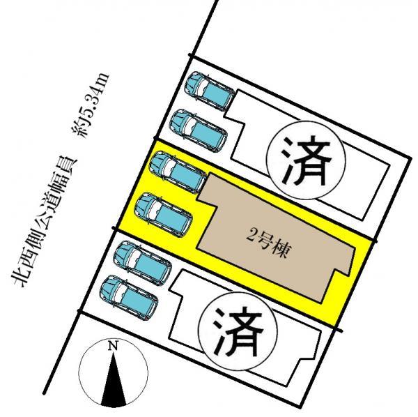 新築一戸建て 名古屋市中川区丹後町2丁目23、24番の一部 名古屋市名港線日比野駅  3590万円