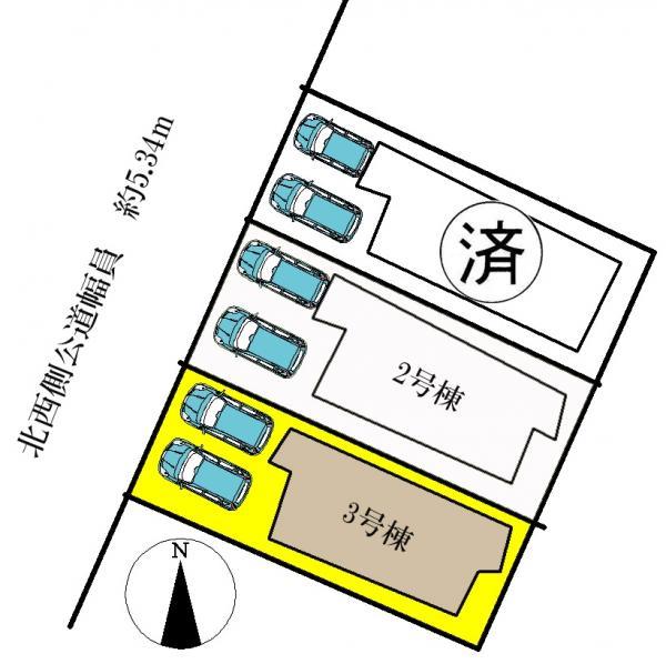 新築一戸建て 名古屋市中川区丹後町2丁目23、24番の一部 名古屋市名港線日比野駅 3690万円