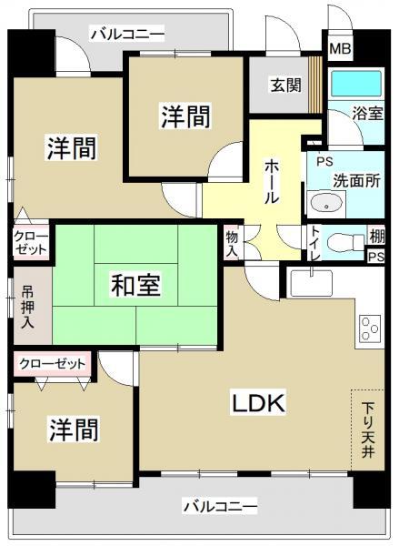 中古マンション 安城市和泉町大海古 名鉄西尾線米津駅 1550万円