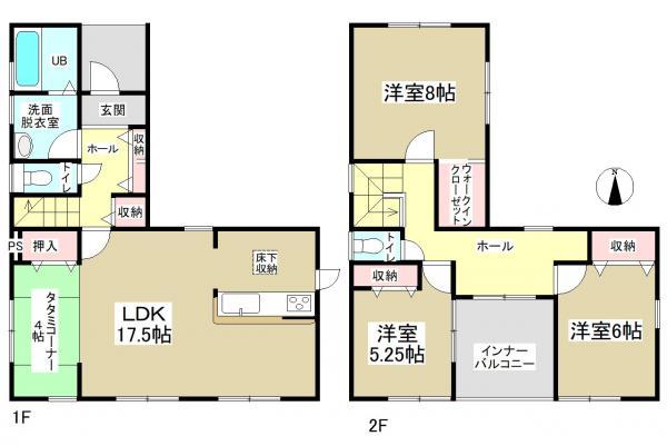 新築一戸建て 名古屋市中川区新家3丁目 関西本線蟹江駅 3280万円