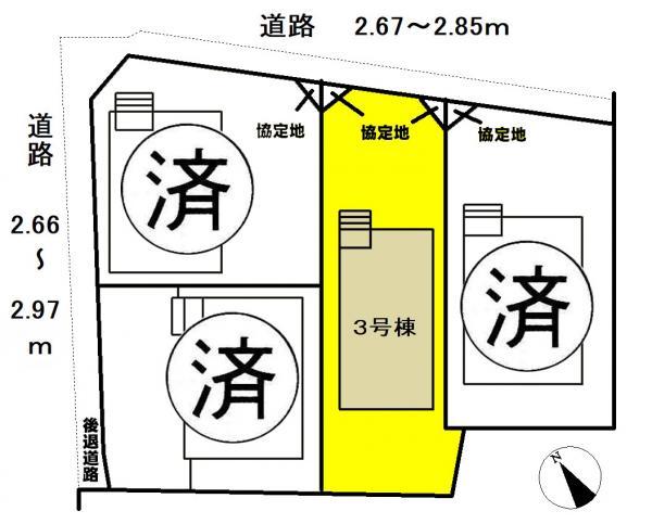 新築一戸建て 名古屋市中川区江松3丁目 近鉄名古屋線伏屋駅 2230万円