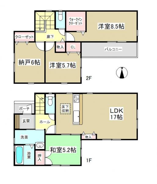 新築一戸建て 名古屋市中川区下之一色町字宮分 近鉄名古屋線伏屋駅 2590万円