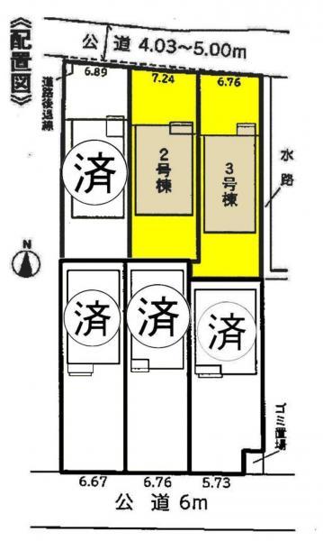 新築一戸建て 弥富市平島東3丁目91、92、106、107 近鉄名古屋線近鉄弥富駅 2680万円