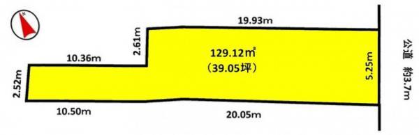 土地 岡崎市福岡町字南西仲 JR東海道本線(熱海〜米原)岡崎駅 1200万円