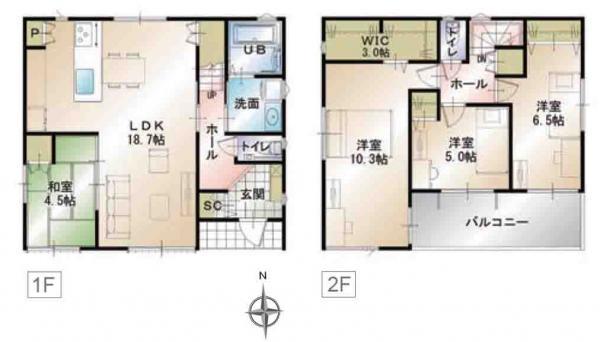 新築一戸建て 浜松市中区蜆塚2丁目  3880万円
