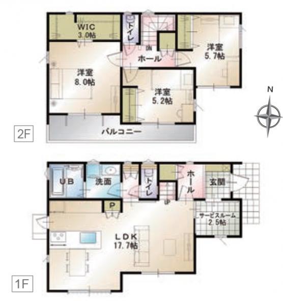 新築一戸建て 浜松市中区佐鳴台5丁目  3480万円