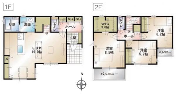 新築一戸建て 浜松市中区佐鳴台5丁目  3180万円