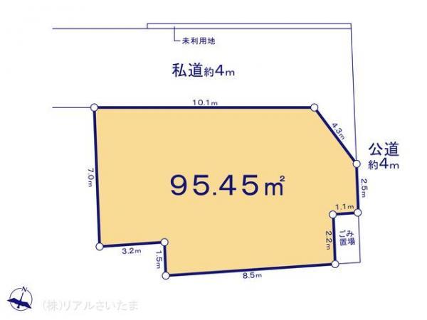 土地 埼玉県さいたま市南区松本3丁目19-4 JR武蔵野線西浦和駅 2280万円