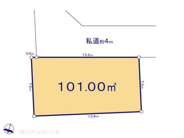 土地 埼玉県さいたま市南区松本3丁目19-4 JR武蔵野線西浦和駅 2230万円