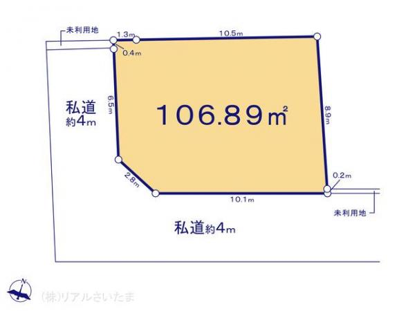 土地 埼玉県さいたま市南区松本3丁目19-4 JR武蔵野線西浦和駅 2380万円