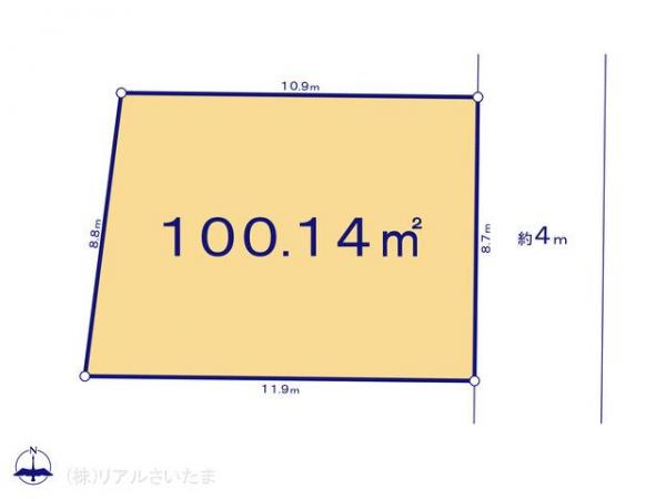 土地 埼玉県さいたま市桜区大字白鍬384-7 JR埼京線北与野駅 2390万円