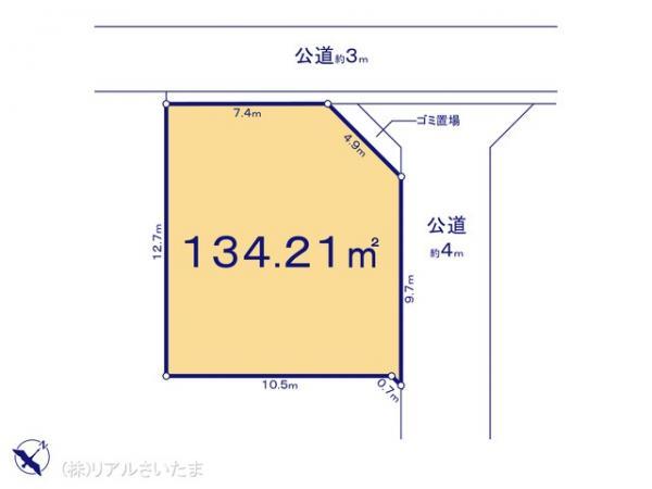 土地 埼玉県さいたま市西区大字土屋66 JR埼京線大宮駅 1799万円