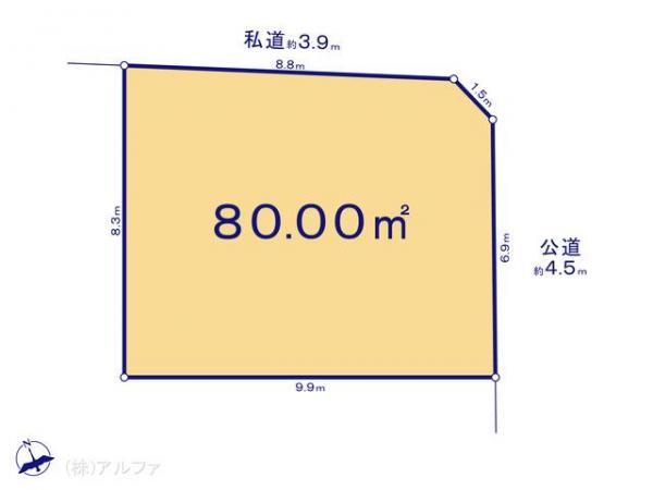 土地 東京都杉並区松庵3丁目100-45 JR中央線西荻窪駅 6580万円