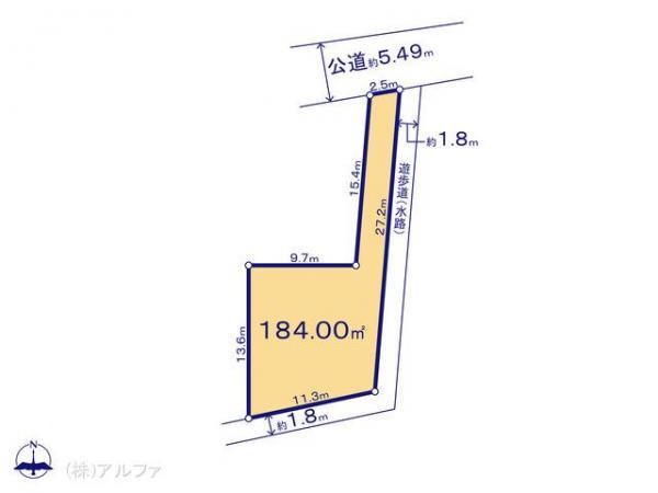 土地 東京都杉並区西荻北2丁目19-10 中央本線西荻窪駅 8280万円