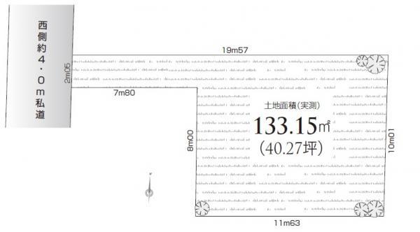 土地 練馬区関町北4丁目 西武新宿線東伏見駅 3650万円