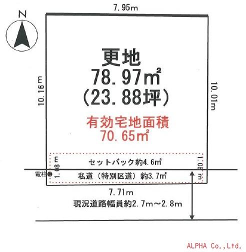 土地 新宿区新宿7丁目 JR山手線新大久保駅 7890万円