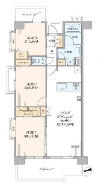 中古マンション 台東区松が谷4丁目12-4 日比谷線入谷駅 6099万円