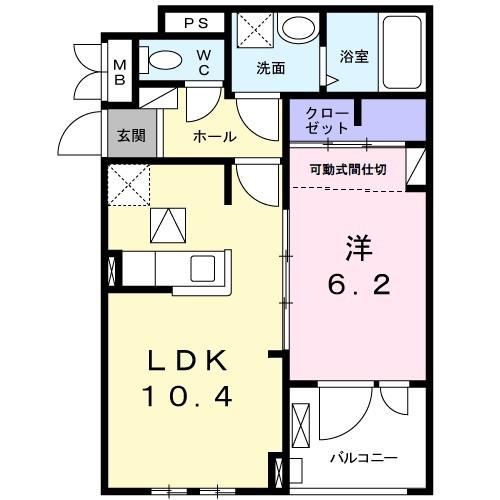 アパート 枚方市津田西町1丁目 JR学研都市線藤阪駅 7.65万円