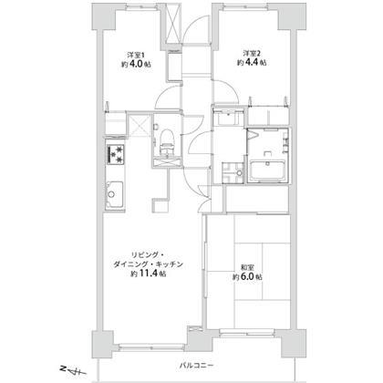中古マンション さいたま市緑区大字大門116-1 JR武蔵野線東川口駅 1999万円