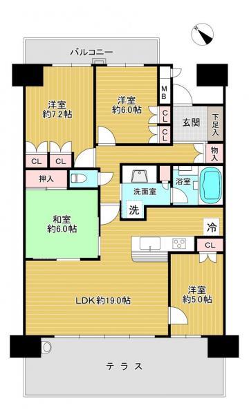 マンション 八幡市欽明台東 JR学研都市線松井山手駅 13万円