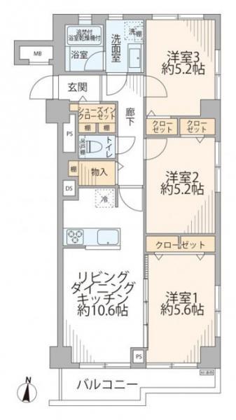 中古マンション 台東区浅草橋1丁目 JR中央・総武線浅草橋駅 4980万円
