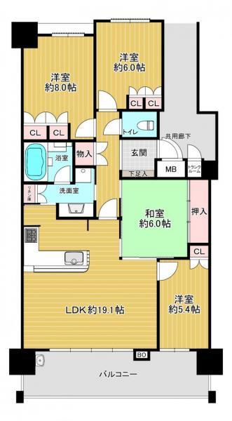 マンション 八幡市欽明台東 JR学研都市線松井山手駅 15万円