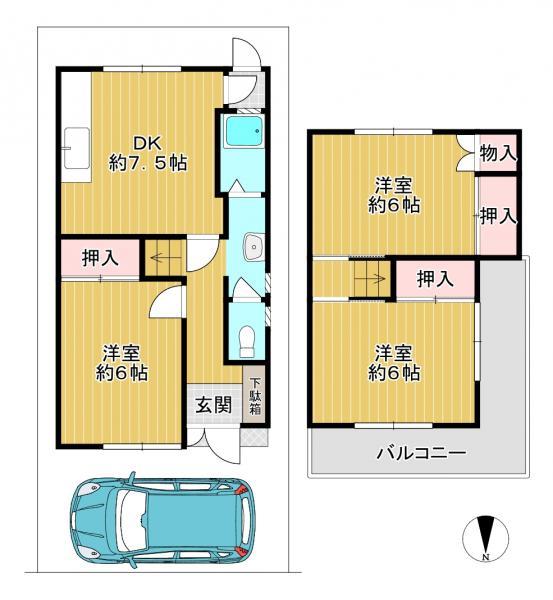 一戸建て 枚方市走谷2丁目 京阪本線光善寺駅 6.8万円