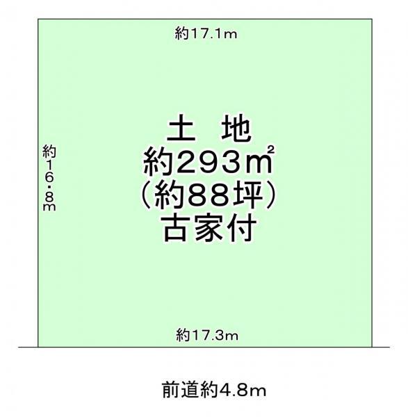 土地 大津市北比良 JR湖西線比良駅 780万円