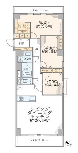 中古マンション 文京区音羽1丁目 有楽町線護国寺駅 8190万円