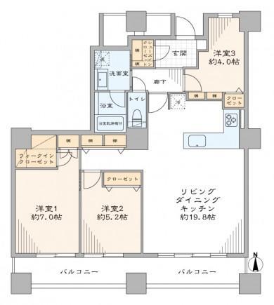 中古マンション 新宿区百人町3丁目 JR山手線高田馬場駅 7580万円