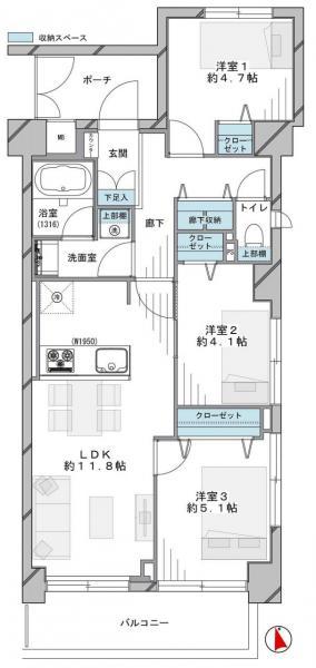 中古マンション 板橋区南常盤台2丁目20-12 東武東上線ときわ台駅 3990万円