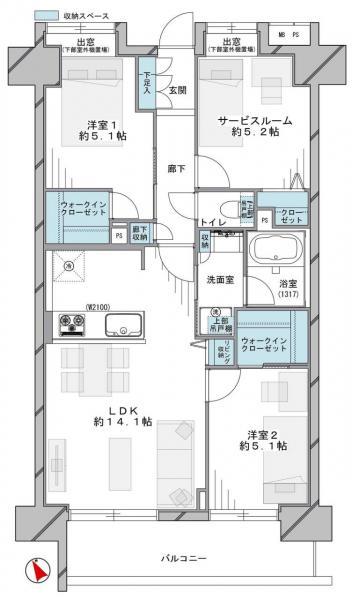 中古マンション 江戸川区平井4丁目22-2 JR中央・総武線平井駅 4599万円
