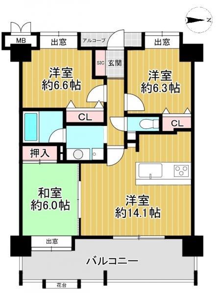 中古マンション 大津市柳川2丁目 JR湖西線大津京駅 1799万円
